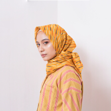 IKAT Indonesia Daimah Scarves Yellow