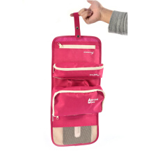 BANGLONG Three in one style Travel Pouch Toiletry Kits Cosmetic Bag Storage Package -One Size - Rose Red