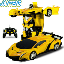 Jantens Electric RC Car Sports Car Shock Resistant Transformation Robot Toy Remote Control Deformation Car