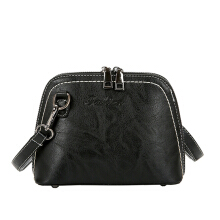 Jantens Women Handbag Vintage Pu Leather Case Shoulder Bag Lady Designer Crossbody Bag Black