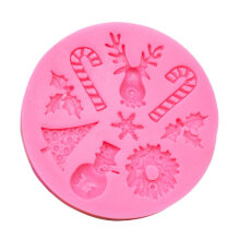 [COZIME] Safe Christmas Party Decoration Cake Mold DIY Kitchen Chocolate Sugar Mold pink