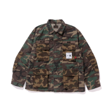 BAPE X WTAPS JUNGLE L/S SHIRT SIZE M