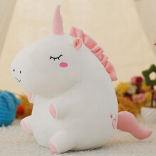 Jantens 1pc 25cm unicorn plush toy fat unicorn doll cute animal plush soft pillow baby child toy gift