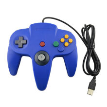 Wired USB Game Controller Wired Gamepad Joystick Gaming Controller USB N64  Blue