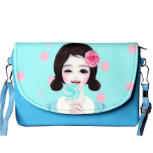 SiYing Korean fashion cartoon double pull student Messenger bag