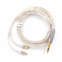 Knowledge Zenith Kabel KZ MMCX BRAIDED Earphone Silver Plating for Shure SE535 SE846 UE900 - Silver