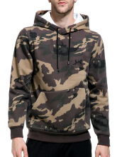 Fashionmall Hooded Camouflage Fleece Pocket Hoodie