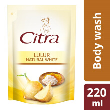 CITRA Lulur Natural White Liquid Body Wash Refill 220ml
