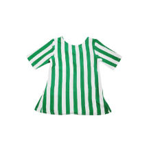 KIDS ICON - Blouse Anak Perempuan DYL With Green Off White Stripes- DG1T0300180