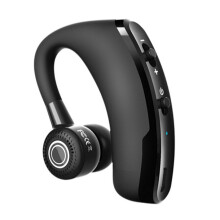 Vinmori V9 business Bluetooth headset hanging ear wireless CSR stereo with voice control Black