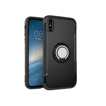 RockWolf iphone X case TPU metal ring magnetic mobile phone holder soft shell