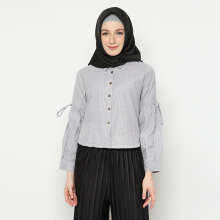 NAFEESA Tunik Inayah Gray Grey All Size