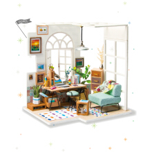 Jantens Robotime DIY Soho Time with Furnitures Children Adult Miniature Wooden Doll House Photo Color