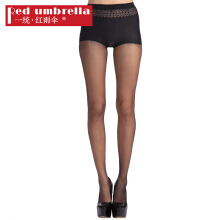 Uniform · Red umbrella stockings female ultra-thin 1D full seamless not easy to hook silk ice silk cotton pantyhose black one size
