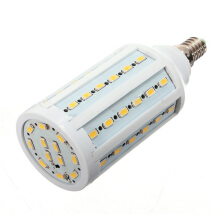 JDWonderfulhouse JDwonderfulhouse E14 60 LED 5630 SMD 220V 15W Corn Light Bulb Lamp Pure Warm White Energy Saving