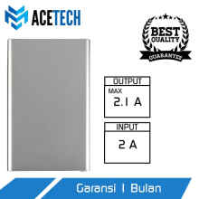 UniqueShop - Acetech Powerbank 6000mAh Power Bank 6000 Slim Grey - Powerbank 6000 - Perak
