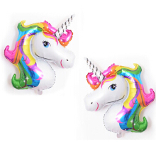 Cute Unicorn Rainbow Color Foil Balloon Children Birthday Party Festival Decor Others one size