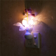 Jantens US Plug / EU Plug Mushroom Rose Light Sensor Home Bedroom Decor Colorful Nightlights 110V-220V LED Night Light Lamp color