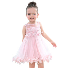 BESSKY Baby Summer Girls Clothes Applique Princess Dress Children Tutu Mesh Clothes_