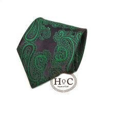 Houseofcuff Dasi Neck Tie Motif Wedding Best Man GREEN BATIK TIE Green