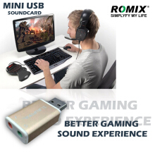 ROMIX Raymin USB Sound Audio Gold 5.1 Adaptor