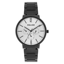 Police PL.15301JSB/07M Men White Dial Black Stainless Steel Strap [PL.15301JSB/07M]