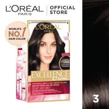 L'OREAL Excellence Creme #3 - Cat Rambut - Natural Black