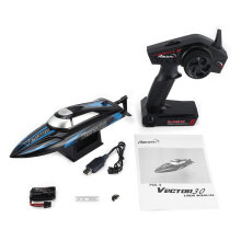 COZIME 795-3 30km/h 2.4G RC High Speed Racing Boat Ship Water Cooling Self-righting Red