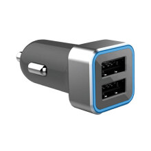 Micropack Car Charger 2 Port 4.8A Max With Smart IC MCC-248S Grey