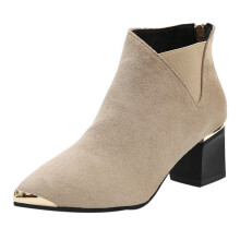BESSKY Fashion Women Boots High Heels Women Ankle Boots Sexy Pointed Toe Martin Boots _
