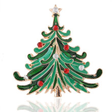 [COZIME] Christmas Tree Brooches for Women Winter Coat Brooch Pin  Enamel Alloy Multi-Colour
