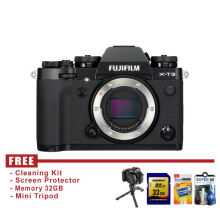 Fujifilm X-T3 Body Only - Hitam - Free Accessories