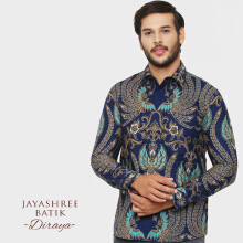 JAYASHREE BATIK Slim Fit Long Sleeve Diraya - Navy