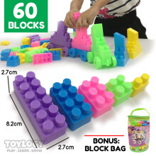 Toylogy - Mainan Edukasi Blok Susun - Building Blocks 60 Pcs Lego Compatible