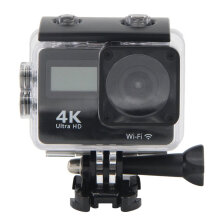 [kingstore] Waterproof 4K WiFi Sport Action Camera Camcorder Dual Screen Touch LCD Black