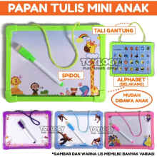 Toylogy - Mainan Edukasi Papan Tulis Anak Mini White Drawing Board Spidol