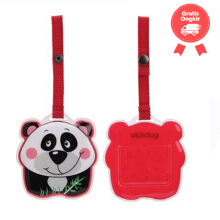 Okiedog Wildpack Luggage Tag Panda Color White Red