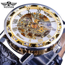 Winner Luxury Top Brand Men's Watches Male Manual Mechanical Watch Male Fashion Luminous Hollow Wristwatch Business Clock for Men