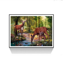 [COZIME] DIY 5D Diamond Painting Deer in The Suburbs Pattern Resin Cross Stitch  D198 multicolor Deer in the suburbs-2