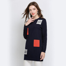 Bestielady N1397 Plus Long Sleeve Knitted Dress