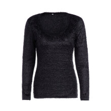 BESSKY Women Long Sleeve Sweater Shirt Casual Outwear Tops and Blouse Slim Fit Sweaters_
