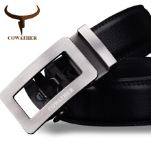 COWATHER luxury belts for men cow genuine leather male strap automatic buckle belt