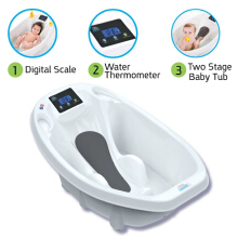 Aqua Scale 3-in-1 Baby Bath Tub Scale And Water Thermometer