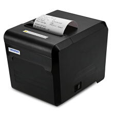 AOSEN GOOJPRT JP80A Thermal Receipt Printer with USB LAN Serial Port 80mm Portable Machine Black EU PLUG