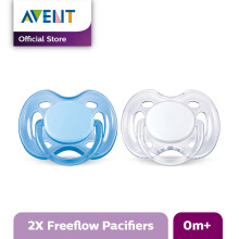 AVENT SCF178/23 Soother 0-6m Twin Free Flow - Blue & White