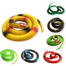 Jantens Halloween Gift Tricky Funny Spoof Toys Simulation Soft Scary Fake Snake Horror Toy For Party Event