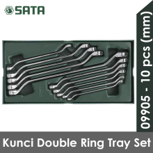 SATA Kunci Ring Double Set 10 pcs Metric Tray Set 09905 Grey
