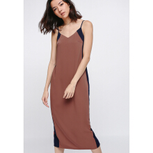 LOVE BONITO Nathaira Side Cutout Contrast Midi Dress - Rust - L