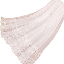 LAVEN ethnic style lace stitching monochrome women's scarf