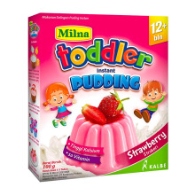 MILNA Toddler 12+ Pudding Instan Stawberry Box - 100gr